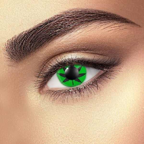 Green cannabis Leaf Eye Accessories (Pair)