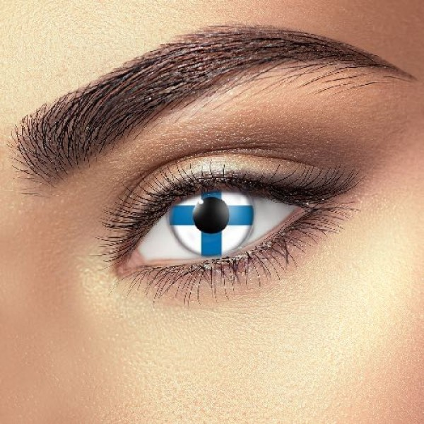 Finland Flag eye accessories