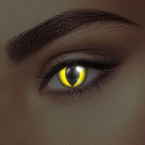 i-Glow Yellow Cat Eye Accessories (Pair)