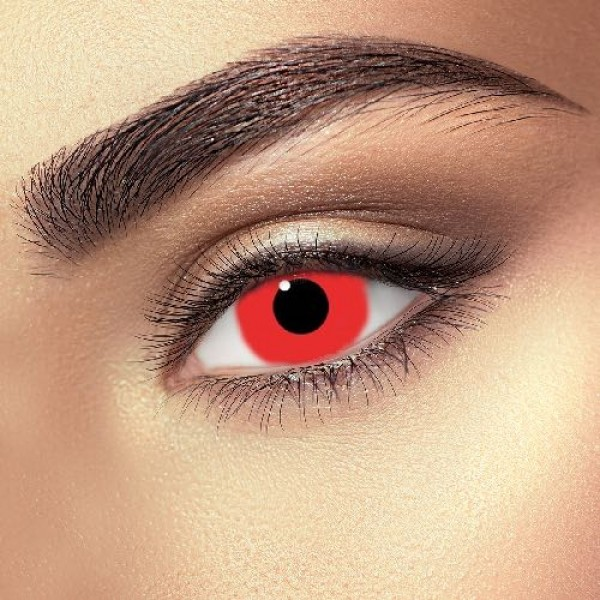 COLOURED CONTACTS - MINI SCLERA RED 1 DAY