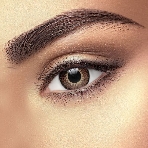 Chocolate Brown 3 Tone Eye Accessories (Pair)