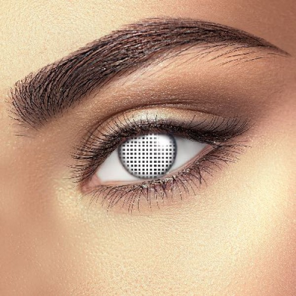White Mesh Eye Accessories (Pair)